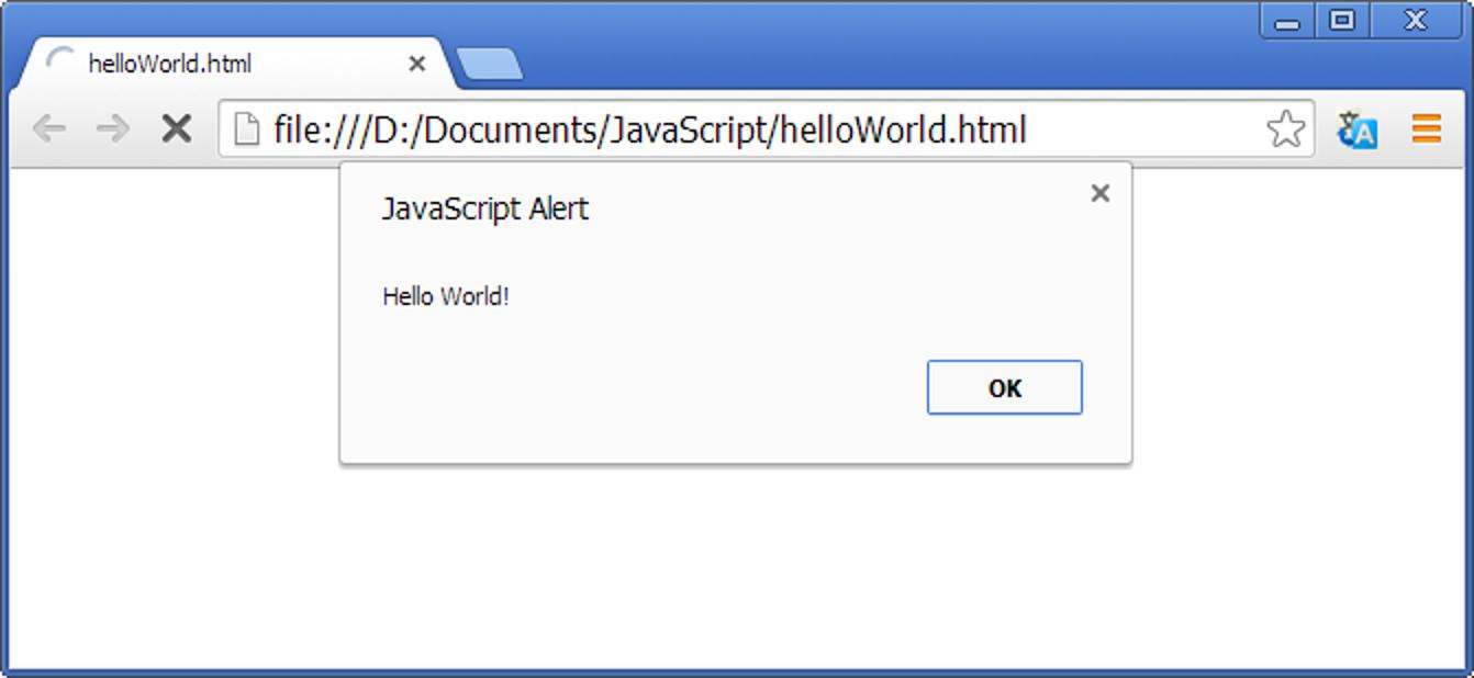 Prikazivanje poruke u pregledaču pomoću JavaScript-a