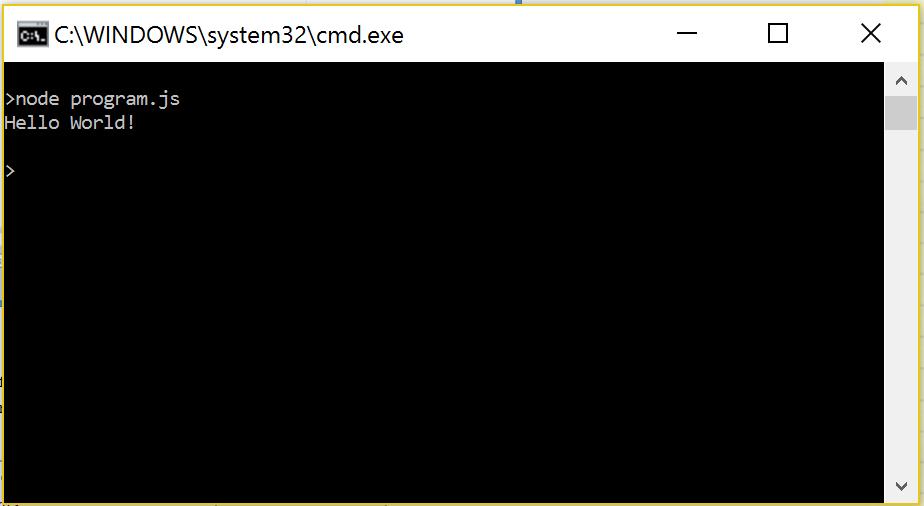Pokretanje JavaScript programa pomoću Node.js programa